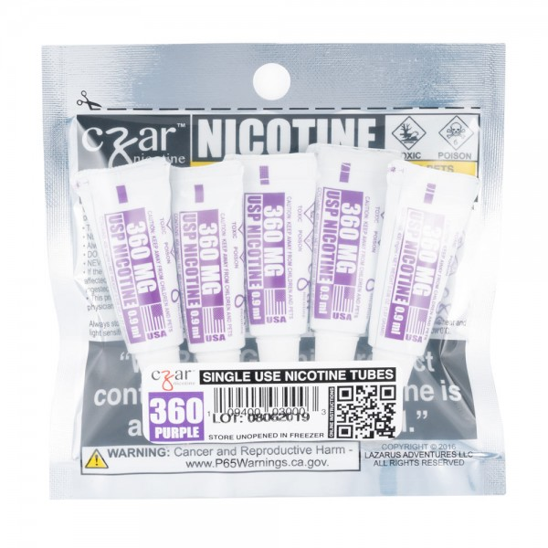 Czar Nicotine - 0.9mL Concentrated Nic Solution 180mg (5 Tubes Per Pack)