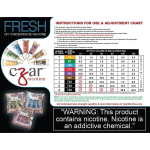 Czar Nicotine - 1.8mL Concentrated Nic Solution 720mg (5 Tubes Per Pack)