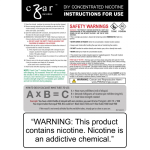Czar Nicotine - 3.75mL Concentrated Nic Solution SALT 1500mg (4 Tubes Per Pack)